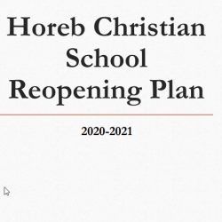 HCS Reopening Plan 2020-2021 School Year