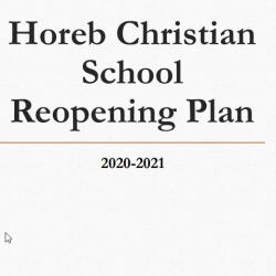 HCS Reopening Plan 2020-2021 School Year